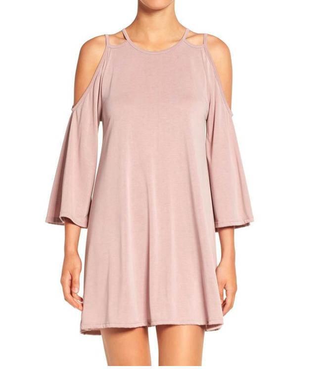 BP. Cold Shoulder Knit Shift Dress