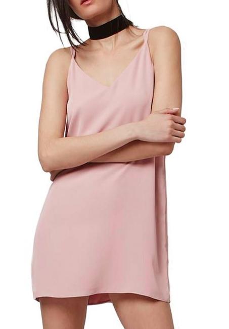 Topshop blush slip dress