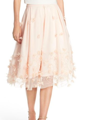 Eliza J Floral Appliqué Ball Skirt