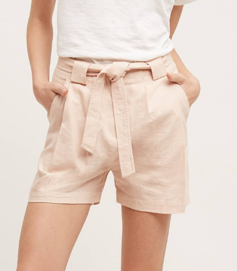 Blushed High-Rise Shorts by Elevenses