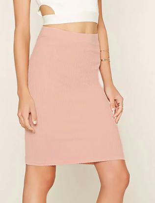 FOREVER 21 Ribbed Pencil Skirt