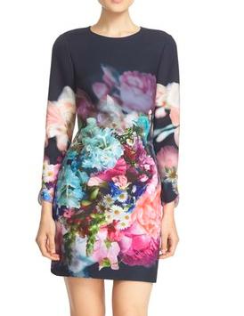 Ted Baker London 'Vyra' Floral Print Tunic Dress