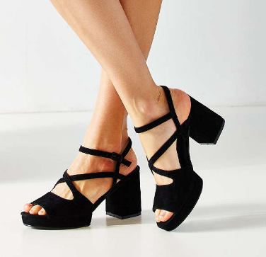 UO Gina Suede Strappy Heel
