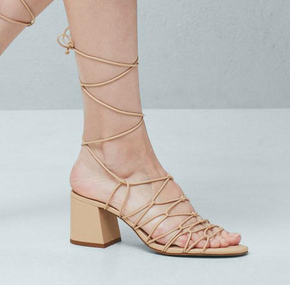 Mango Strap cord sandals