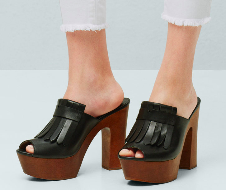 Mango Fringe leather sandals