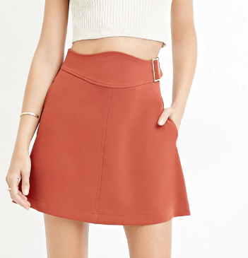 Contemporary Buckled A-Line Skirt