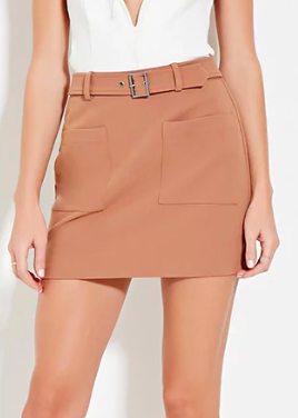 Forever 21 Belted Mini Skirt