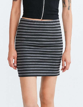 BDG Striped Ponte Mini Skirt