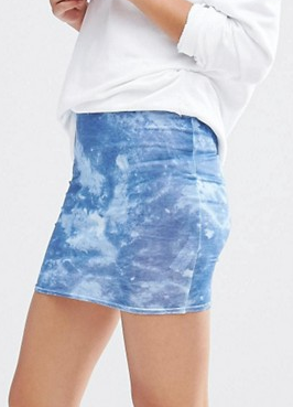 Boohoo Tie Dye Mini Skirt