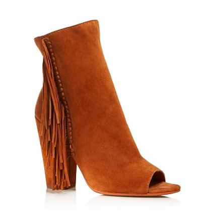 Dolce Vita Mazarine Fringe Open Toe High Heel Booties