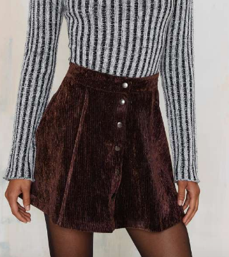 After Party Vintage Hard Corduroy Skirt