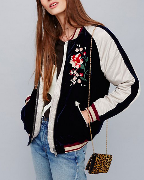 FP Floral Embroidered Bomber
