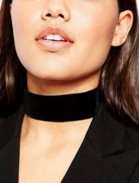 ASOS NIGHT Velvet Choker Necklace