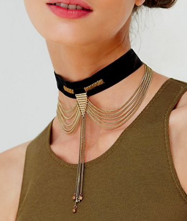 Down and Out Velvet Choker