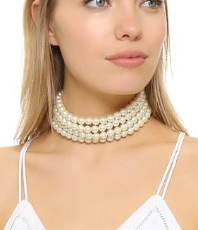 Kenneth Jay Lane 4 Strand Choker Necklace