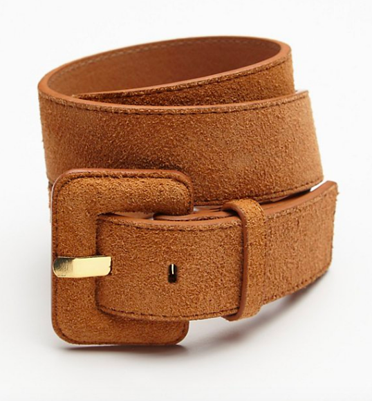 Suede Covered Buckle Belt
