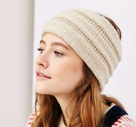 Ecote Super Wide Ribbed Ear Warmer