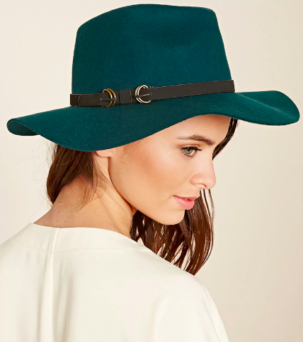 Forever 21 Faux Leather Band Fedora