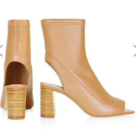MELON Ankle Peep-Toe Boots