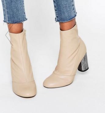 ASOS ELIXIR Leather Sock Boots