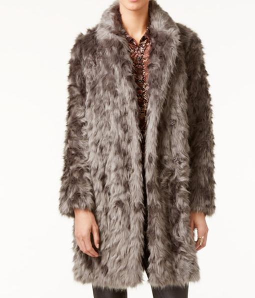Vera Wang Coat Faux-Fur Coat
