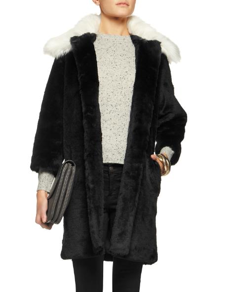 AINEA Two-tone faux fur coat