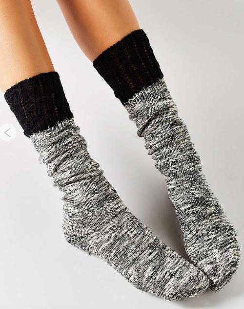 Crochet Cuff Slouchy Sock