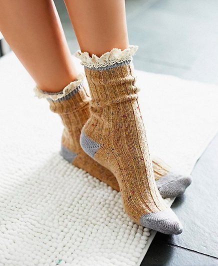 Irreplaceable Speckled Highland Boot Sock