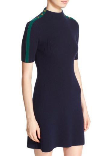 Tory Burch 'Sardy' Ribbed Merino Wool Sweater Dress