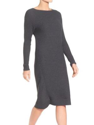 Caslon® Rib Knit Sweater Dress