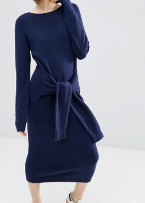 ASOS Sweater Dress with Tie Detail