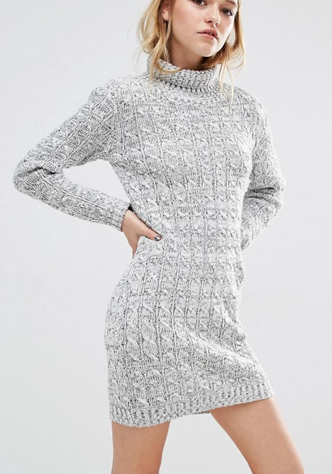 Daisy Street High Neck Sweater Dress