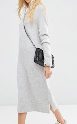ASOS Midi Sweater Dress in Wool Mix Yarn