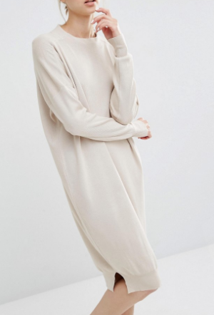 Paisie Sweater Dress With Funnel Neck