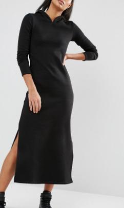 Nocozo Long Sleeve Maxi Dress With Hood