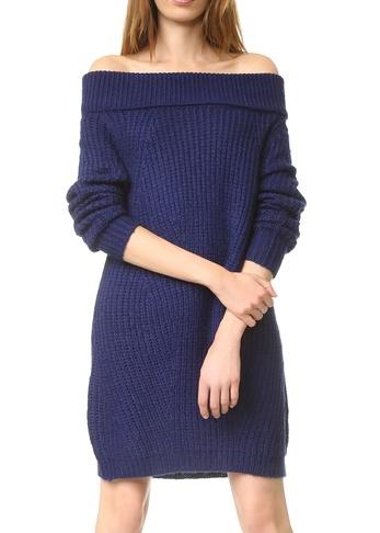 MLM LABEL Off Shoulder Sweater Dress