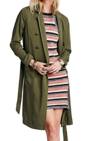Free People Military Duster Jacket