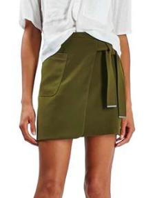 Topshop Utility Wrap Skirt