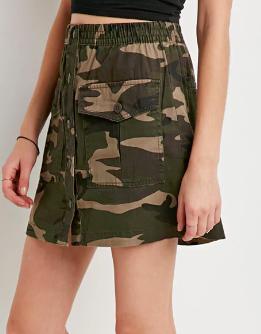 Forever 21 Camo Cargo Skirt