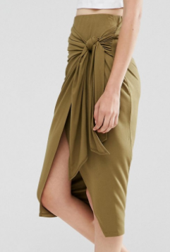 ASOS Pencil Skirt with Twist Knot