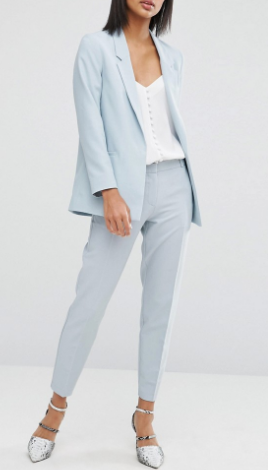 ASOS Ankle Grazer Cigarette Trousers in Crepe NEW FIT