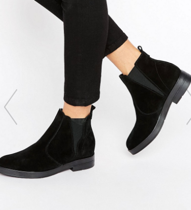 Pieces Ambra Suede Chunky Chelsea Boots