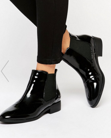 River Island Patent Point Ankle Boots