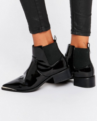 ASOS ABBIE Chelsea Pointed Ankle Boots