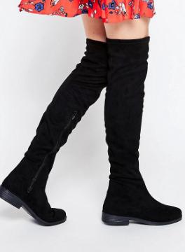 ASOS KEEP SAKE Flat Over The Knee Boots