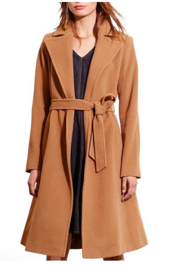 Wool Blend Wrap Coat LAUREN RALPH LAUREN