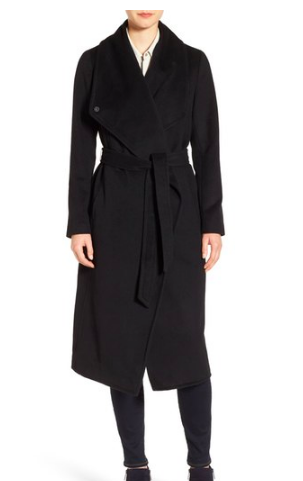 Drape Front Wrap Coat COLE HAAN SIGNATURE