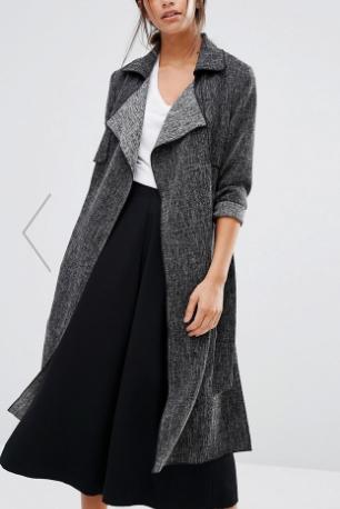 New Look Side Split Duster Coat