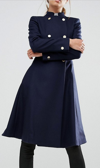 Ted Baker Indego Fit and Flare Coat