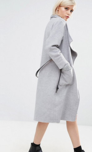 Lost Ink Relaxed Collar Coat